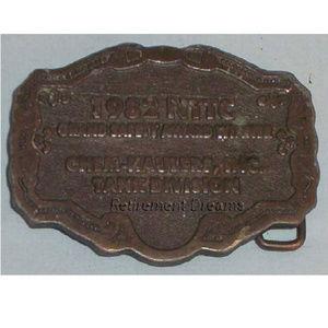 Belt Buckle 1982 NTTC Chem Haulers Safety Award